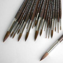 قلم مو گرد دسته بلند با موی سمور_خرم