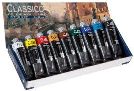 رنگ روغن 9 رنگ مایمری مدل Classico